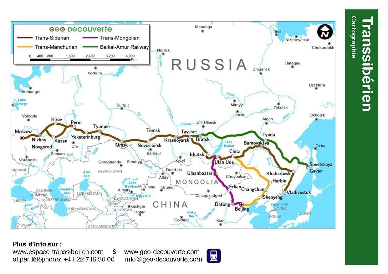 Carte du transsibérien